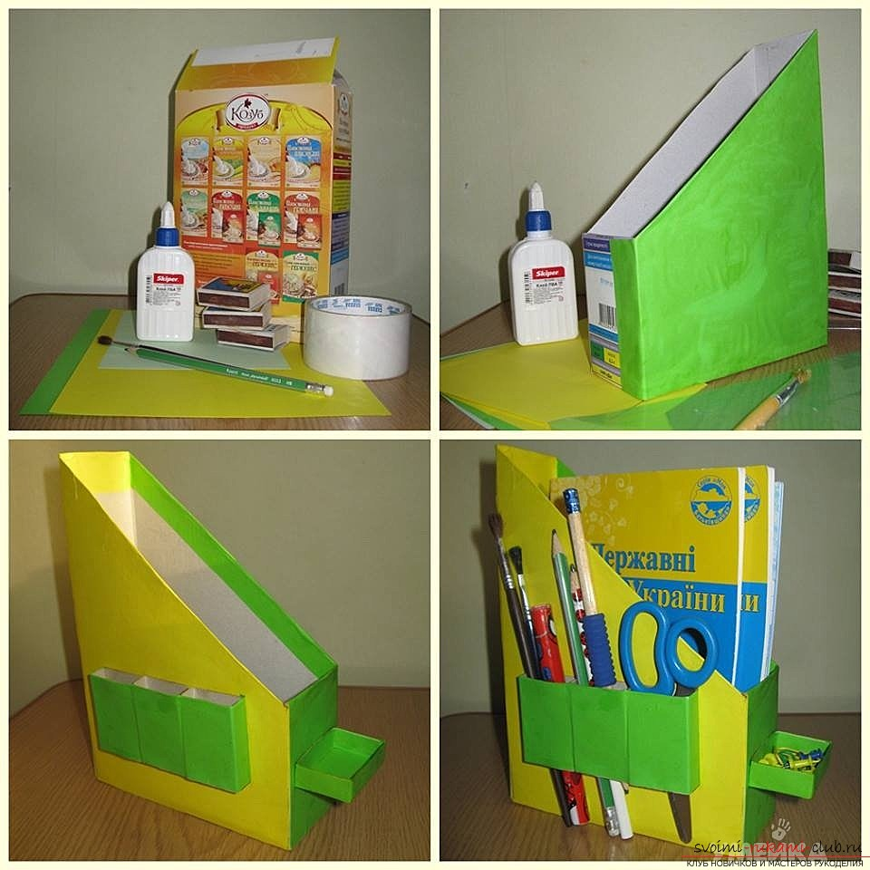 Crafts made of cardboard boxes made by own hands. Photos and simple ideas .. Picture number 2