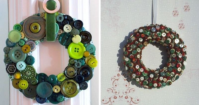 Wreaths at the door of the buttons