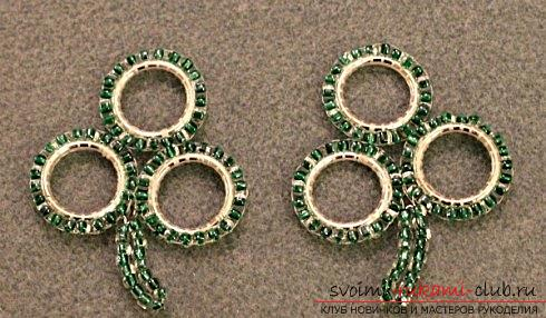 Several master classes on weaving earrings from beads, step-by-step photos and description .. Photo # 14