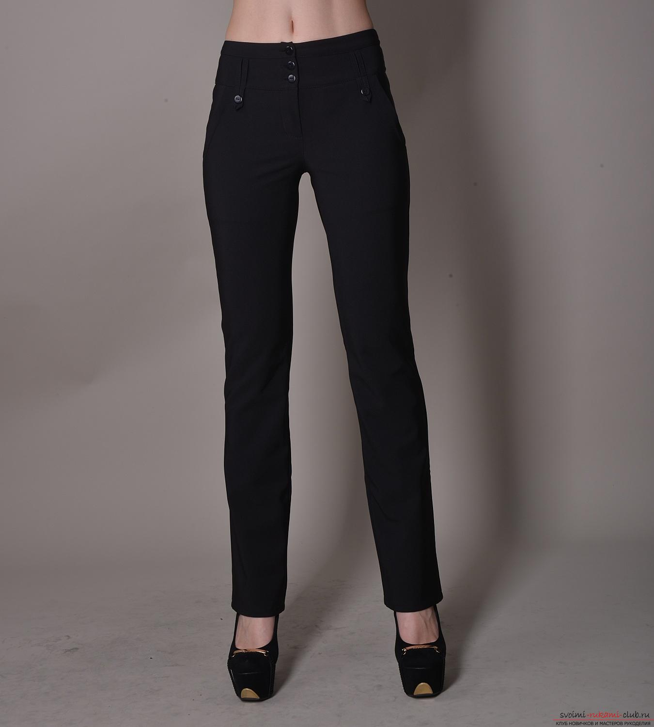 The instruction for the construction of a pattern of female trousers of the classical model. Photo №4