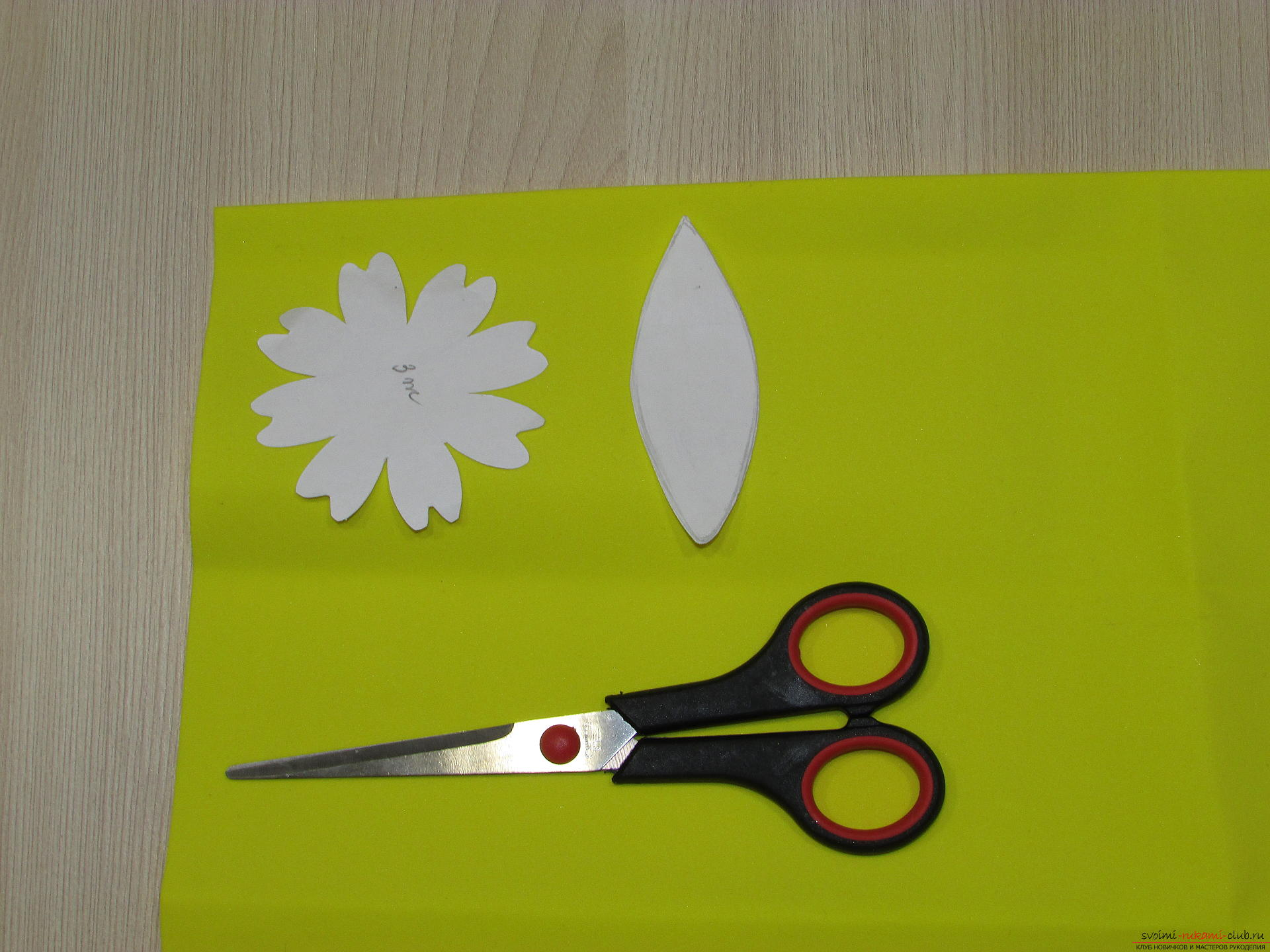 A master class with step-by-step photos will teach you how to make flowers from fameirana yourself. Photo №4