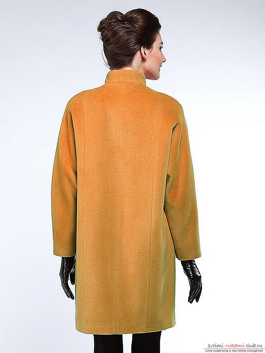 How to carve and sew a coat with a one-piece sleeve. Picture №3