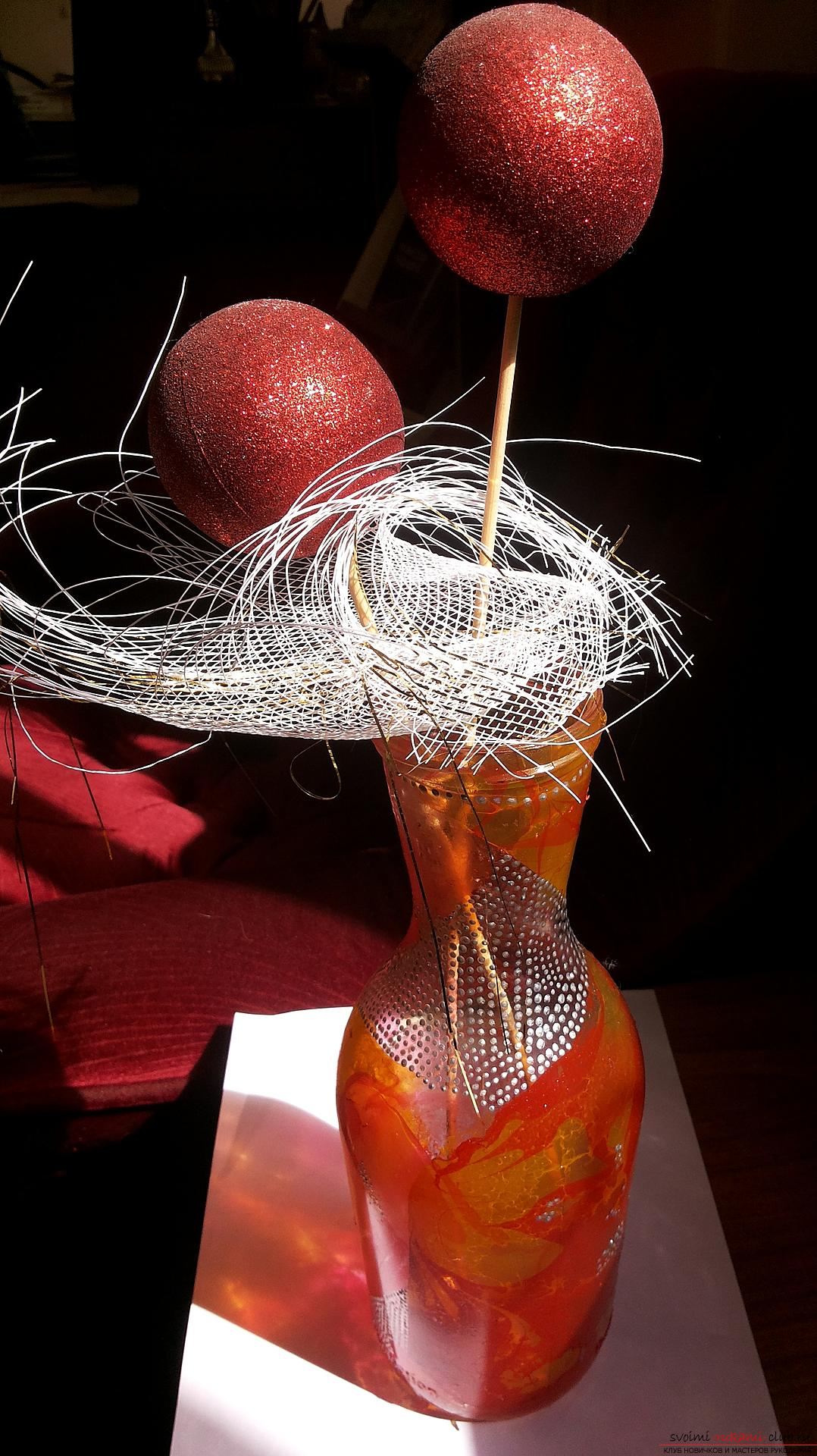 How to design glass bottles and cans by making an unusual gift. Photo # 2