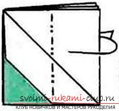 How to fold a beautifully napkin or hand-made paper in origami technique, schemes for children of 8 years .. Photo # 8