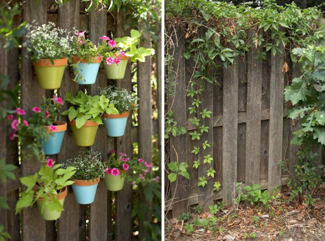 decor fence by yourself - before and after