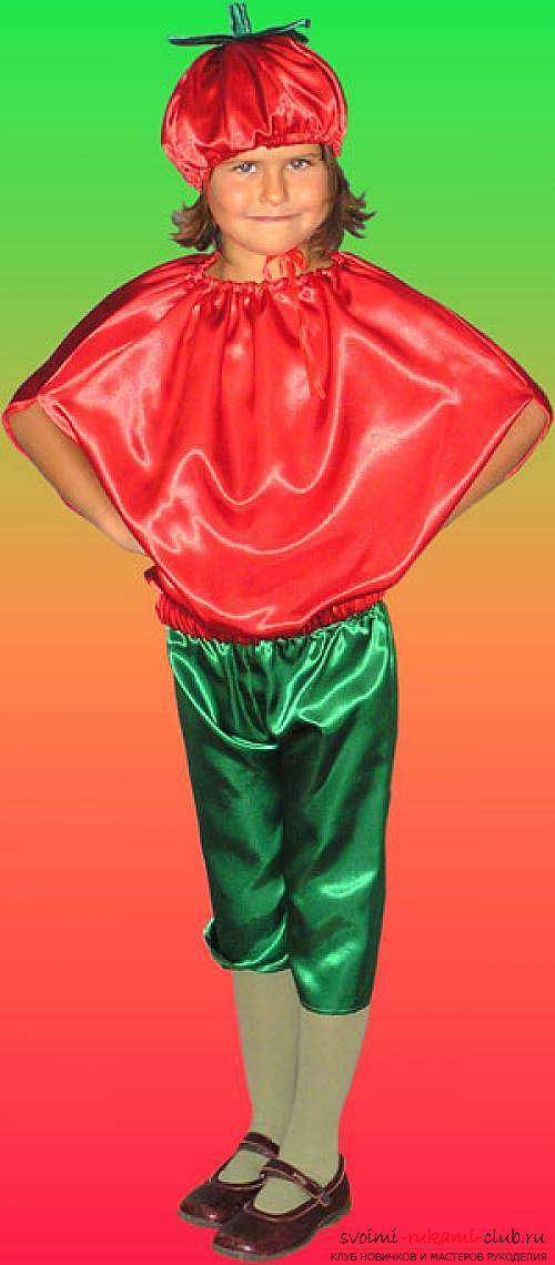 Create a tomato costume for your child with your own hands. Photo №8