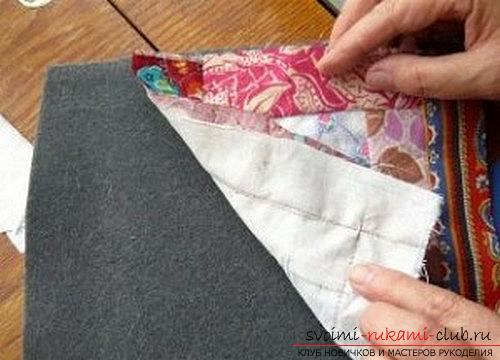 Sewing potholders in the patchwork technique for beginners. Photo Number 9