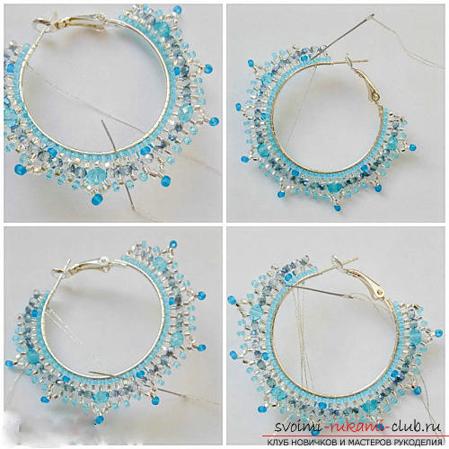Free master classes with step-by-step photos on weaving earrings from beads .. Picture №16