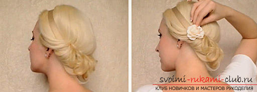 Hairstyle in Greek style on medium hair, an instruction to create a Greek hairstyle with their own hands .. Photo # 3