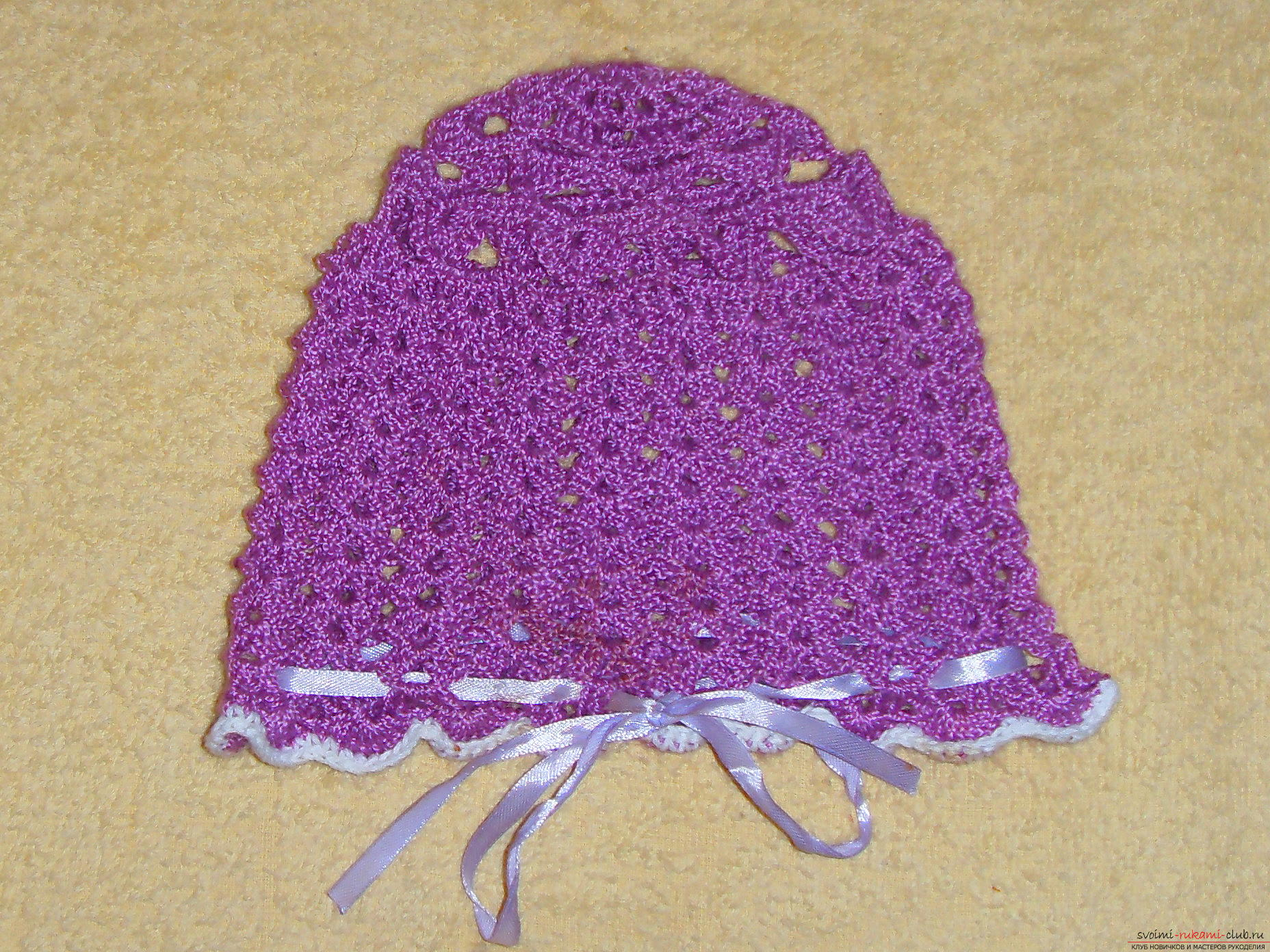 This master class tells beginners to crochet a hat for a little girl. A bright hat, tied by own hands, is sure to please the child .. Photo # 21