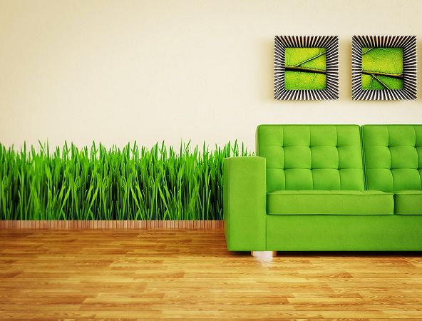 Wall Mural with grass
