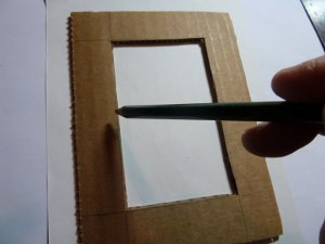 photo frame by hand made of cardboard (2)