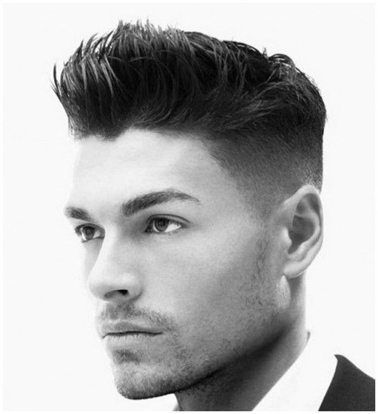 The most topical masculine hairstyles for short hair. Picture №3