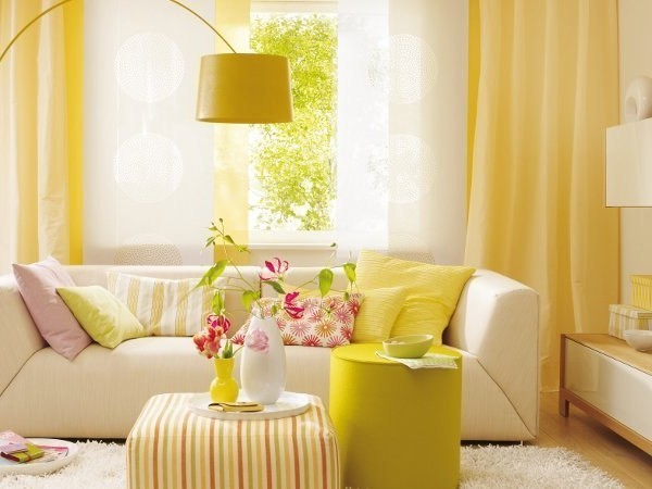 yellow in the interior