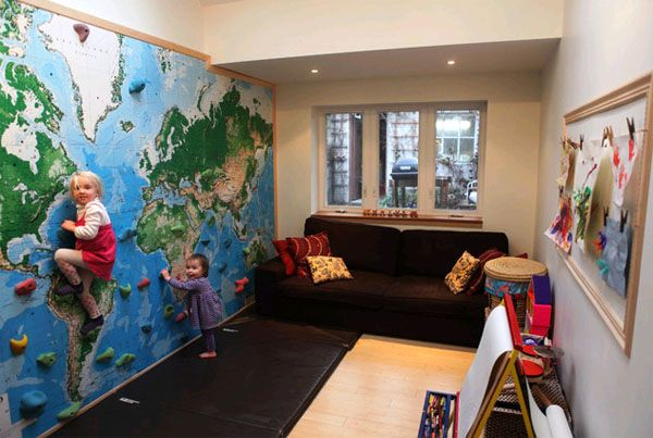 geographic map in the interior of a child