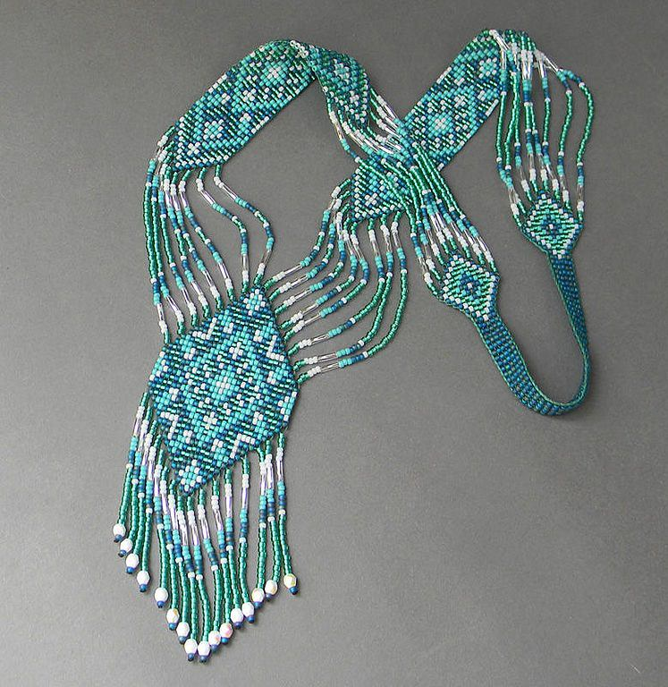 how to make a beaded necklace with fishing line