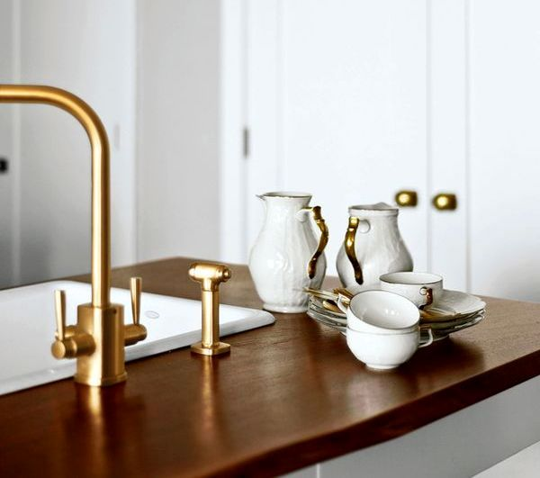 plumbing of gold color