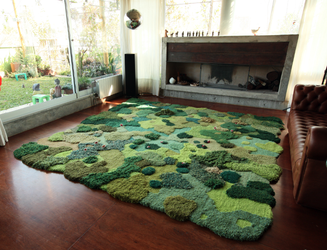 floor covering grass and moss carpet