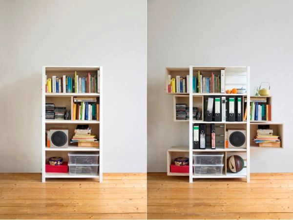 shelf with self-supporting shelves