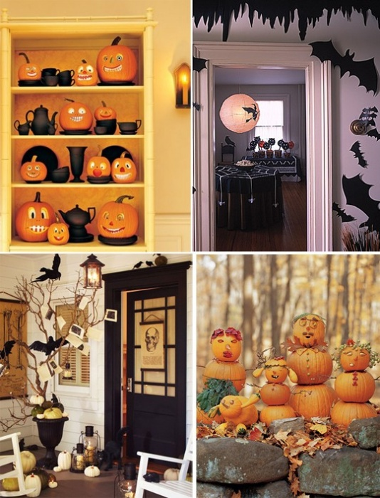 How to decorate the living room for Halloween