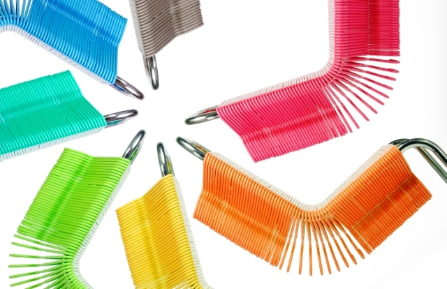 colorful chairs from hangers