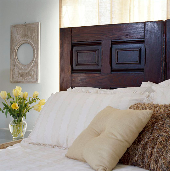 Door - headboard, bedroom decor with own hands