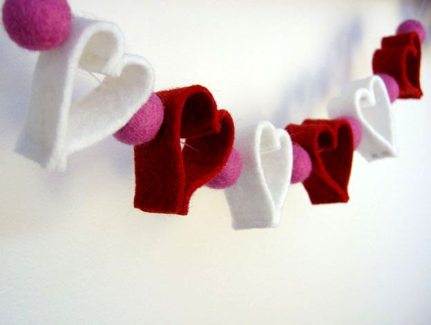 hand-made heartworks for Valentine's Day