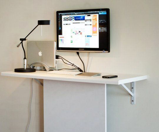 stationary computer desk with their own hands