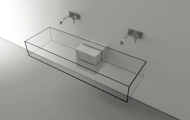 glass sink for two Kub Basin
