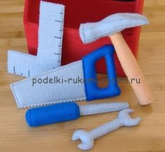 gaming set of felt. set of doctor. set of tools