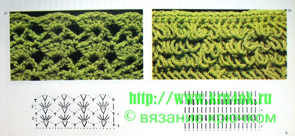 Knitting Patterns According To The Schemes Part 2