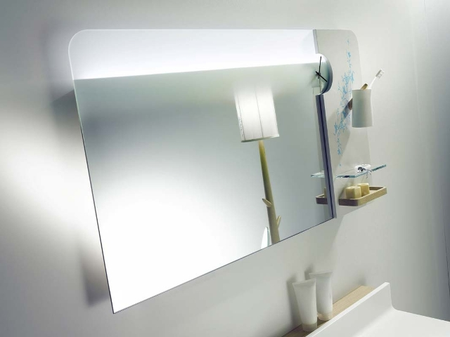 Mirror with shelves for bathroom, Delpha