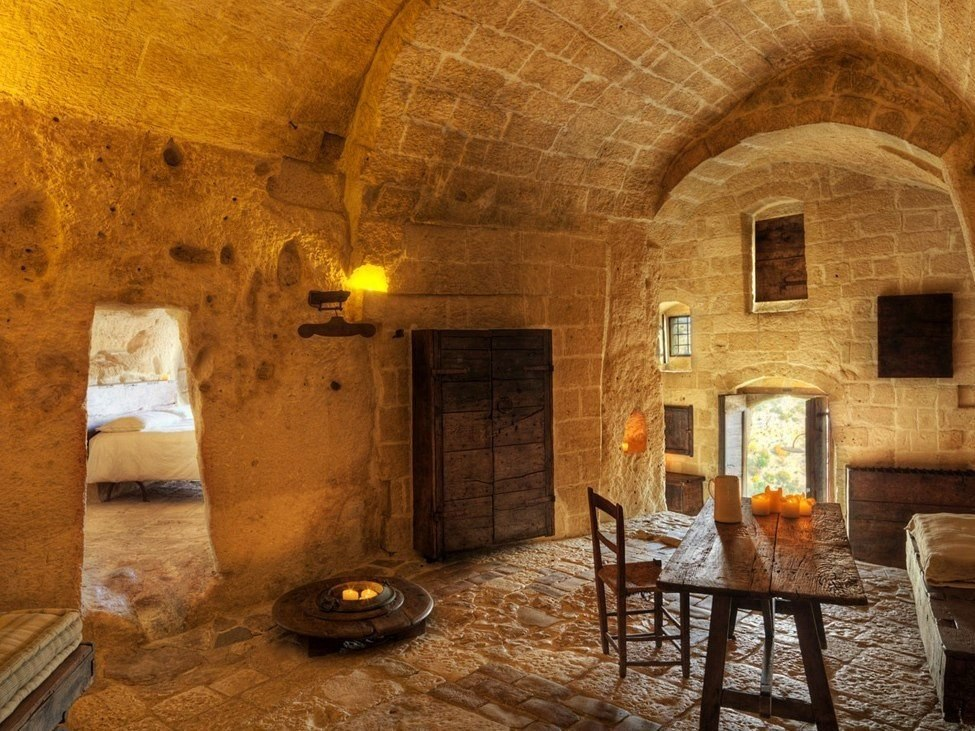 Interior in medieval style