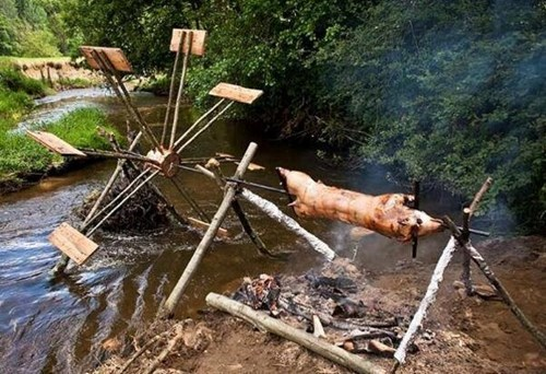Interesting design of the barbecue