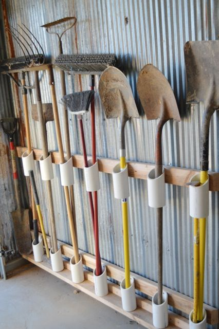 Using PVC pipes for tool storage