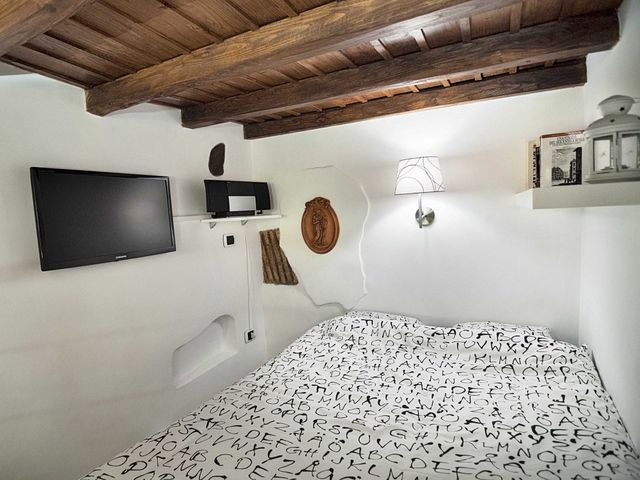 interior of the sleeping area of ​​a small apartment 7 sq m