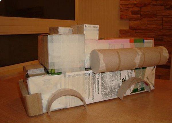 We make a machine made of cardboard-5