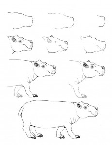 How to draw pictures in stages. We study drawing with children.