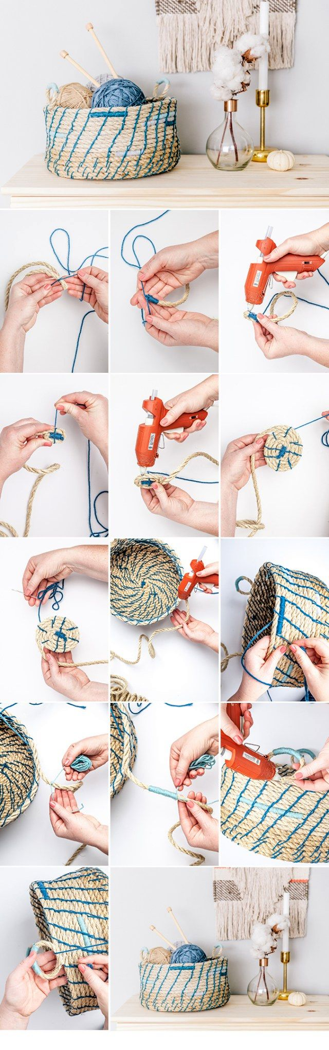 Basket of rope how to make