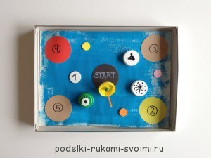 How to make a board game with your own hands for children from 3 (2)