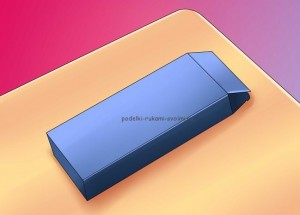 how to make a pencil case from the box with your own hands