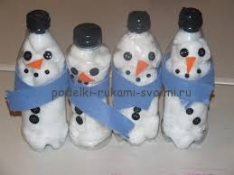 how to make a snowman winter handmade articles with children own hands