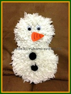 how to make a snowman winter hand-made articles with children own hands (25)
