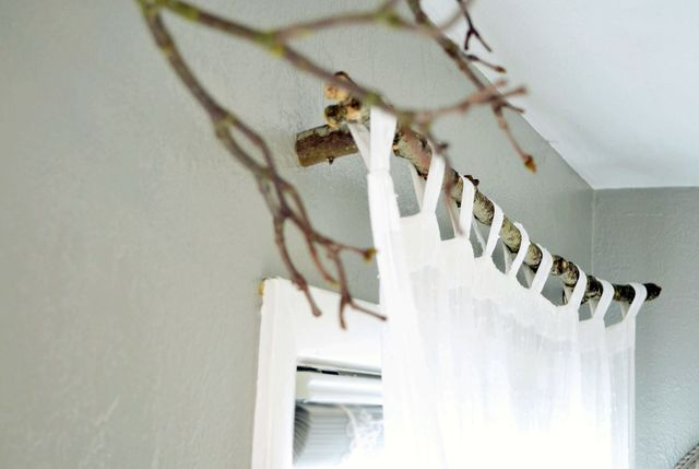 cornice with your own hands for curtains in eco-style