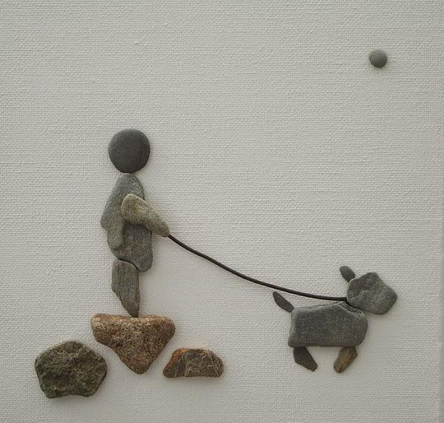 Картини з маленьких каменів фото