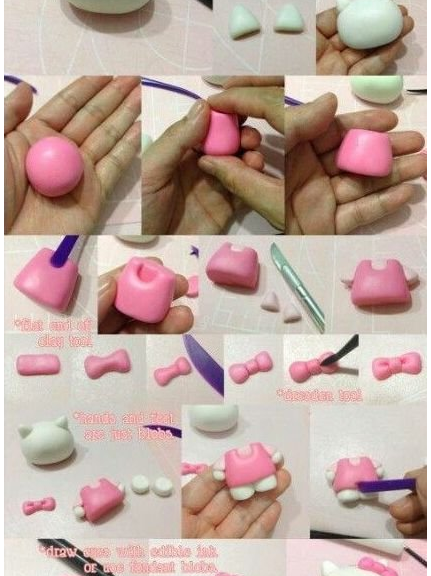 how to make a cat out of clay or mastic