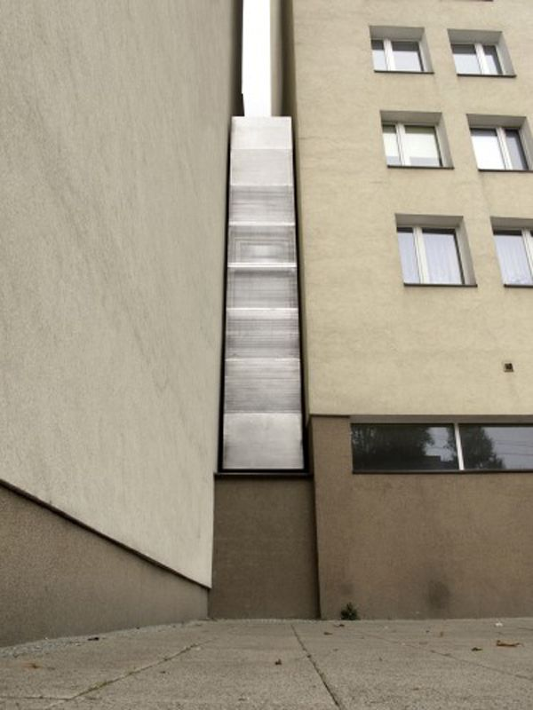 the narrowest house of Keret House in Warsaw