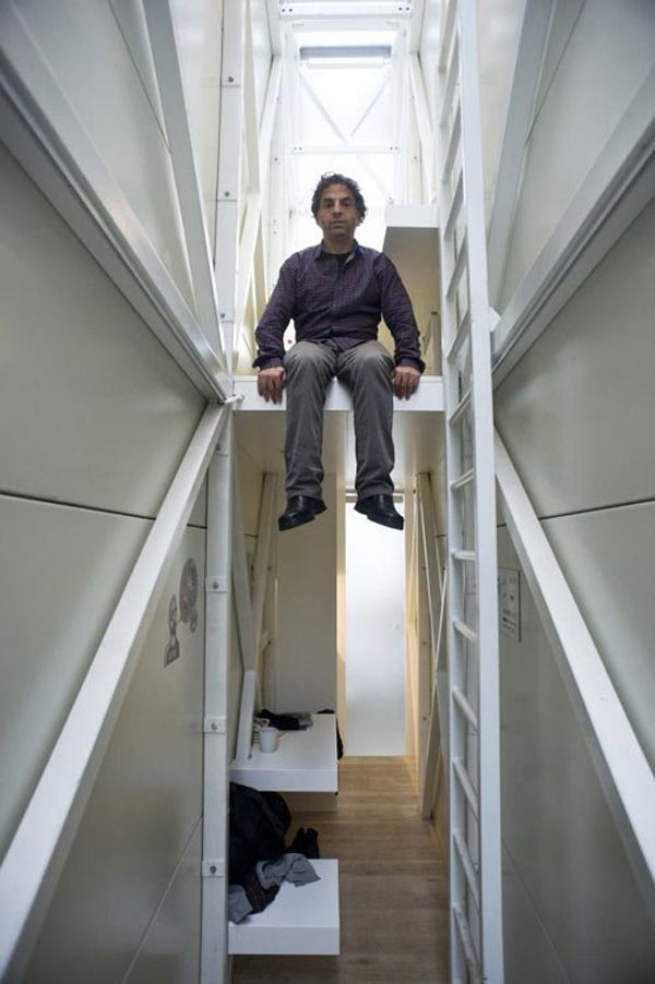 inside Keret House - the narrowest house in the world