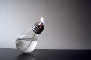Using a burned bulb.