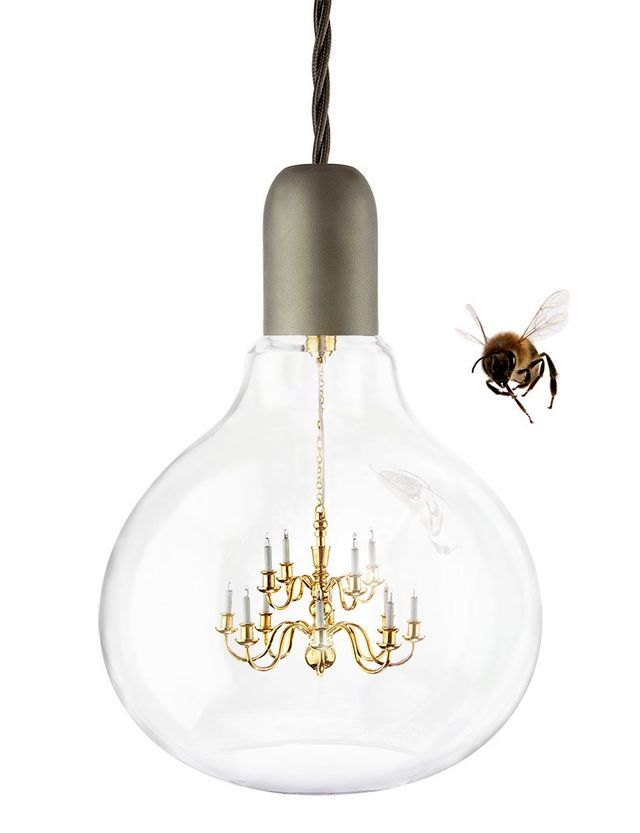 chandelier in the form of a King Edison light bulb from Young-and-Battaglia
